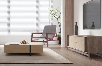 富裕型110平米三室三厅日式风格客厅图片大全