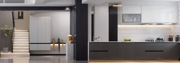 富裕型140平米别墅现代简约风格餐厅设计图