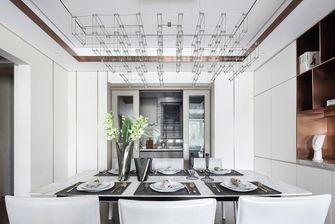 富裕型三室一厅现代简约风格餐厅图