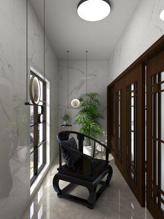 富裕型100平米三室两厅中式风格阳台图片大全