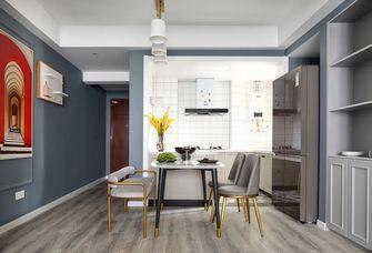 经济型80平米公寓轻奢风格餐厅设计图