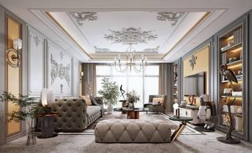 法式风格客厅装修图片大全