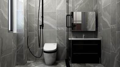 豪华型140平米四室一厅现代简约风格卫生间装修案例