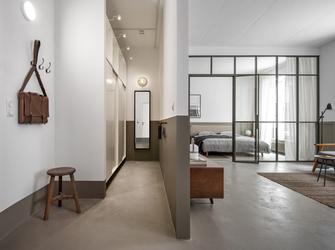 110平米一室一厅工业风风格玄关欣赏图