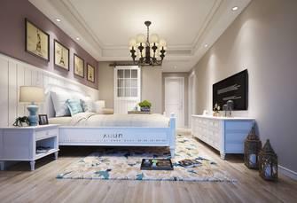 豪华型三室三厅美式风格卧室图片