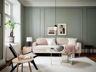 经济型60平米一室一厅现代简约风格客厅效果图