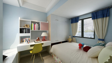 10-15万80平米三室两厅港式风格青少年房装修效果图