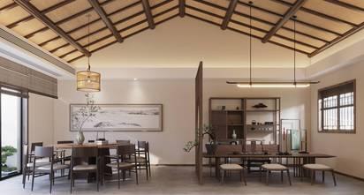 豪华型80平米公寓中式风格餐厅图片