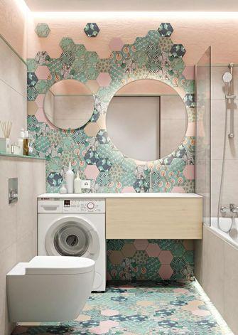 3万以下50平米公寓现代简约风格卫生间装修效果图