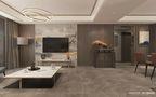 130平米三室两厅现代简约风格客厅装修图片大全