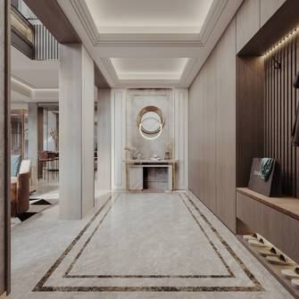 豪华型140平米别墅轻奢风格走廊装修案例