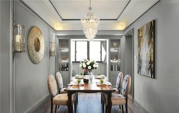 富裕型120平米三室两厅轻奢风格餐厅效果图