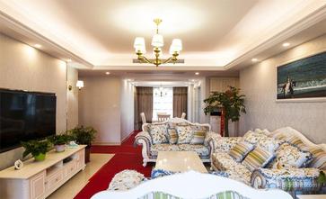 110平米三室一厅欧式风格客厅效果图