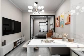 经济型120平米一室一厅现代简约风格餐厅图