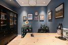 富裕型60平米公寓美式风格书房欣赏图
