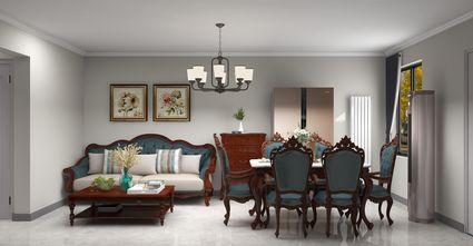 15-20万100平米三室一厅美式风格客厅欣赏图