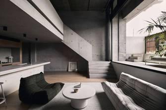 富裕型130平米三室两厅工业风风格楼梯间装修效果图