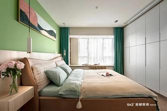 豪华型120平米三室三厅北欧风格卧室图片大全
