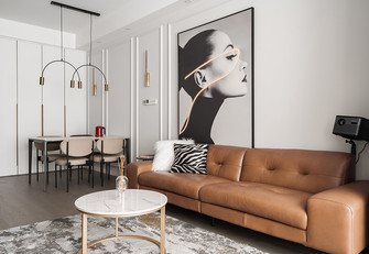 5-10万90平米三室两厅混搭风格客厅装修案例