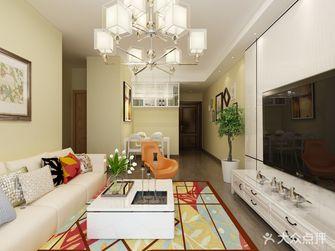 富裕型70平米现代简约风格客厅图片