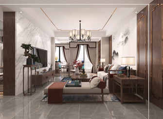 15-20万140平米四室四厅中式风格客厅图