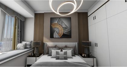 130平米三室两厅轻奢风格卧室装修案例