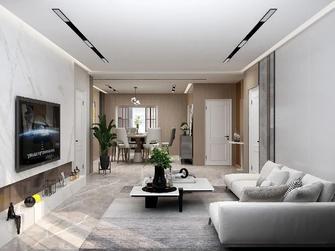富裕型三现代简约风格客厅装修效果图