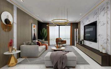 130平米三室一厅现代简约风格客厅图