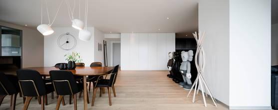 5-10万70平米一室两厅现代简约风格餐厅装修效果图