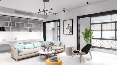 130平米复式现代简约风格客厅设计图