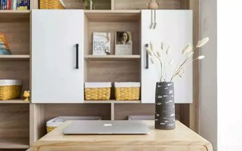 3-5万80平米现代简约风格书房图片大全