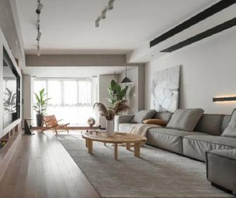 富裕型140平米三室两厅北欧风格客厅图