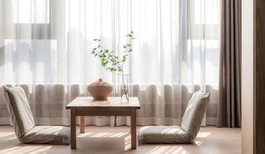 富裕型110平米三室两厅日式风格书房图