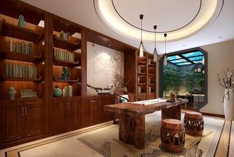 豪华型140平米四室四厅中式风格书房图