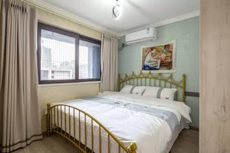 富裕型80平米一居室现代简约风格卧室图