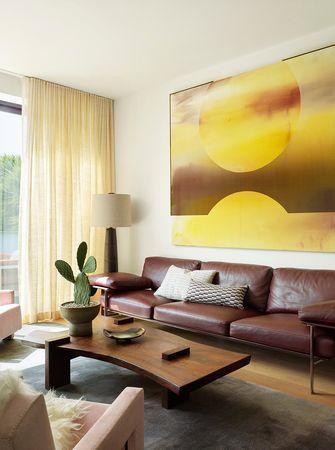 140平米英伦风格客厅装修案例