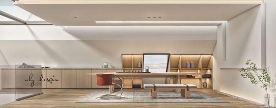 20万以上110平米复式现代简约风格阁楼装修效果图