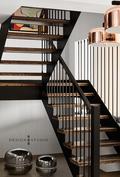 140平米复式混搭风格楼梯间图