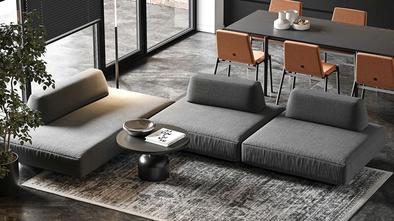 15-20万70平米现代简约风格客厅设计图