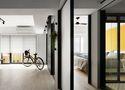 经济型50平米小户型现代简约风格走廊效果图