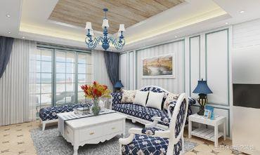 20万以上90平米三地中海风格客厅图