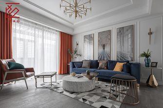 富裕型140平米复式美式风格客厅图片大全