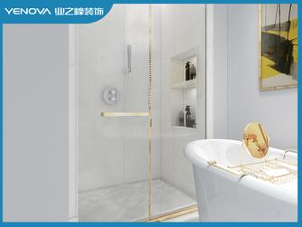 140平米三室两厅现代简约风格卫生间装修案例