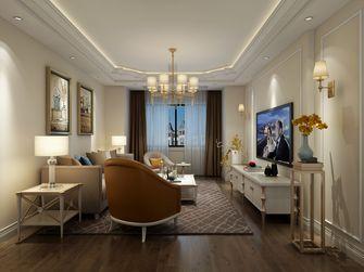 90平米三室三厅欧式风格客厅装修图片大全