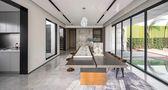 140平米复式混搭风格客厅装修案例