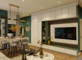 5-10万80平米北欧风格客厅装修效果图