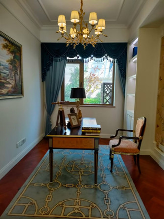 10-15万120平米三室两厅欧式风格书房装修图片大全