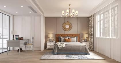 豪华型140平米三室两厅美式风格卧室欣赏图