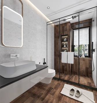 富裕型120平米三室两厅地中海风格卫生间图片