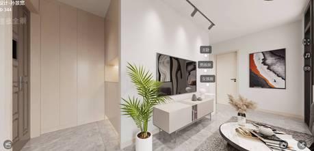 富裕型70平米现代简约风格客厅装修效果图